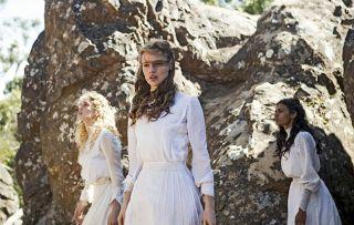 Wednesday 11th July Picnic at Hanging Rock Picture Shows: Irma Leopold (SAMARA WEAVING), Miranda Reid (LILY SULLIVAN), Marion Quade (MADELEINE MADDEN)