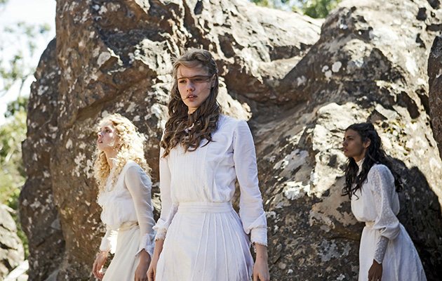 Wednesday 11th July Picnic at Hanging Rock Picture Shows: Irma Leopold (SAMARA WEAVING), Miranda Reid (LILY SULLIVAN), Marion Quade (MADELEINE MADDEN)