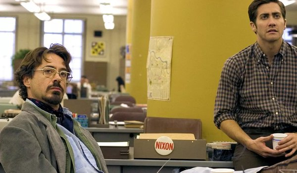 Zodiac Robert Downey Jr Jake Gyllenhaal in the newsroom