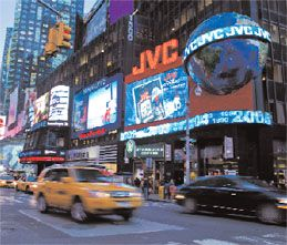 JVC Launches HD LED Times Square Billboard