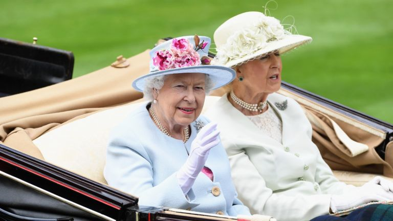 Mysterious disappearance of Queen's cousin, Queen Elizabeth II and Princess Alexandra, The Honourable Lady Ogilvy arrive in the royal procession on day 2 of Royal Ascot at Ascot Racecourse on June 20, 2018 in Ascot, England.