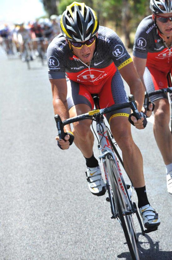 Stage Four 2010 Tour Down Under Andre Greipel Lance Armstrong