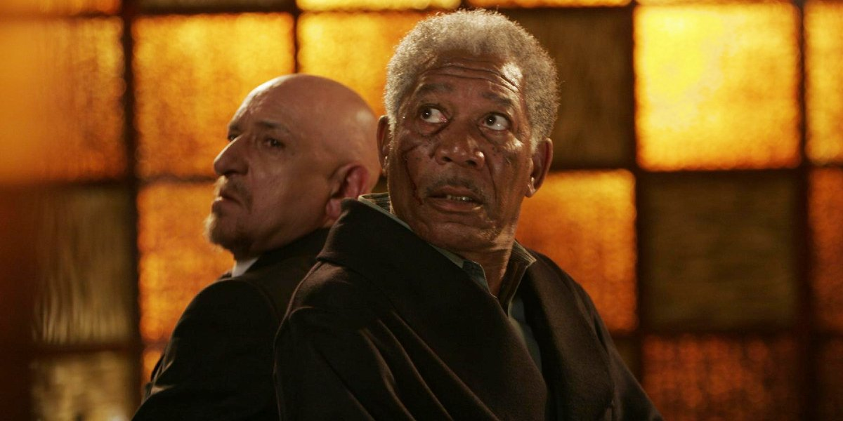 Ben Kingsley and Morgan Freeman in Lucky Number Slevin