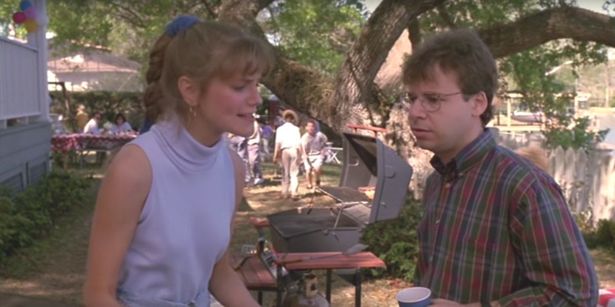 Moranis on the receiving end of an argument