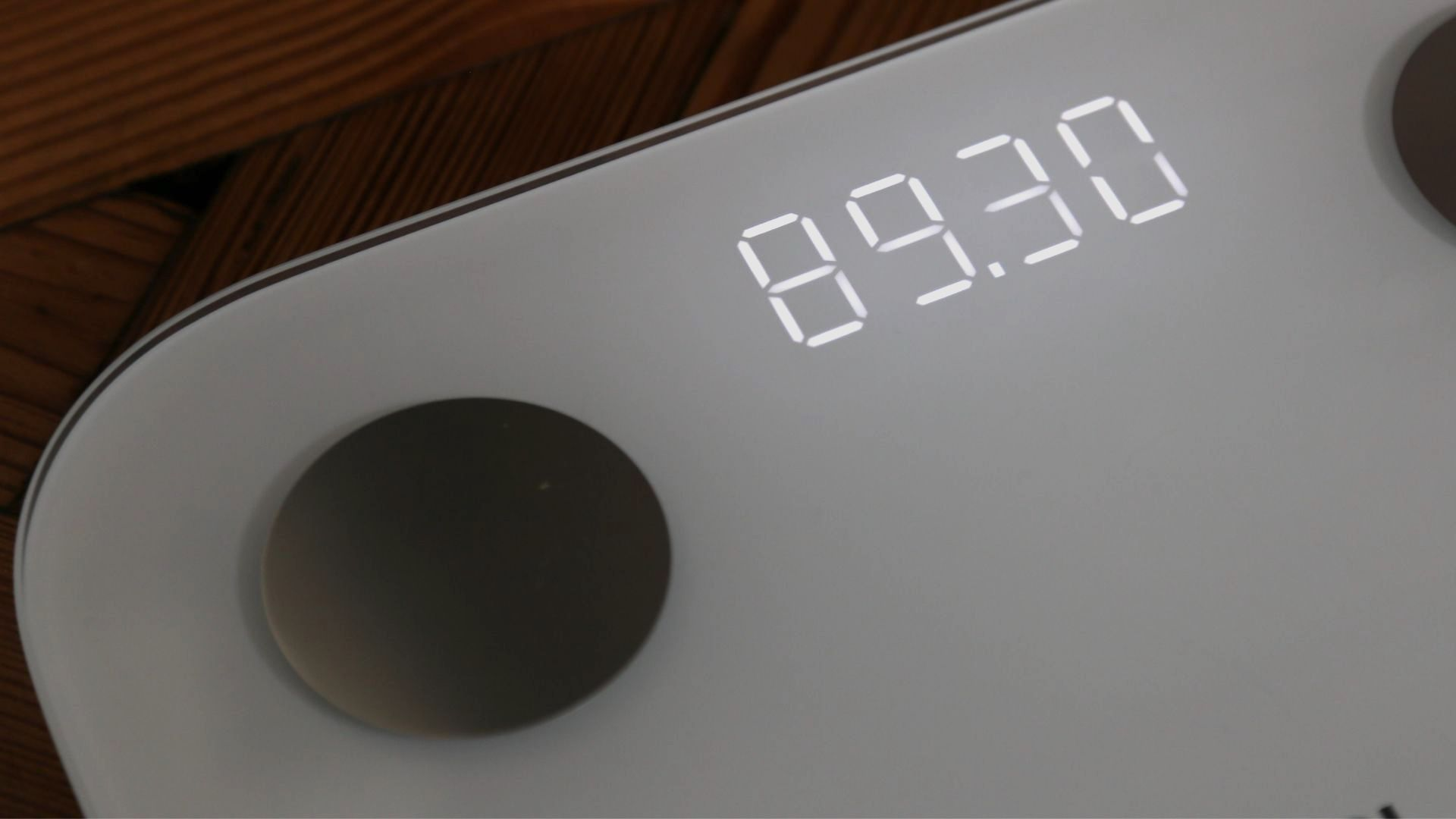 Weight displayed on the Xiaomi Mi Body Composition Scale 2