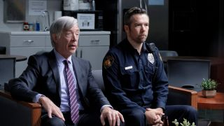 J.K. Simmons (left) as Leon and Patrick Brammall as Det. Nick Cullen in CBS All Access's 'No Activity'