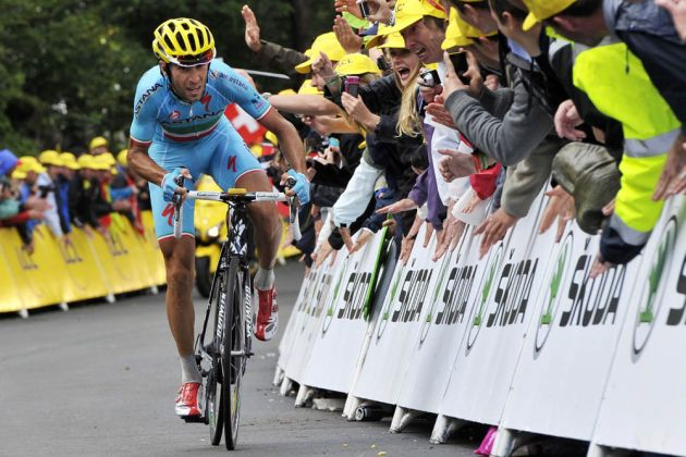 Vincenzo Nibali on stage ten of the 2014 Tour de France