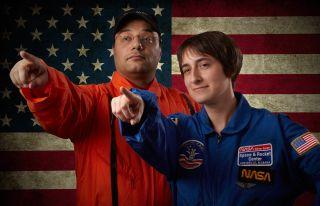 Tariq and Miriam as Astronauts