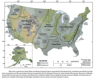 Geologic Carbon Sequestration Map
