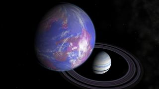 Hypothetical planet and exomoon