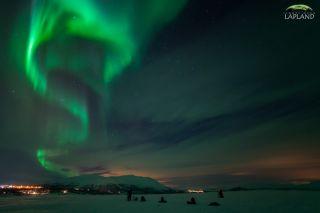 Aurora Over Abisko National Park in Sweden