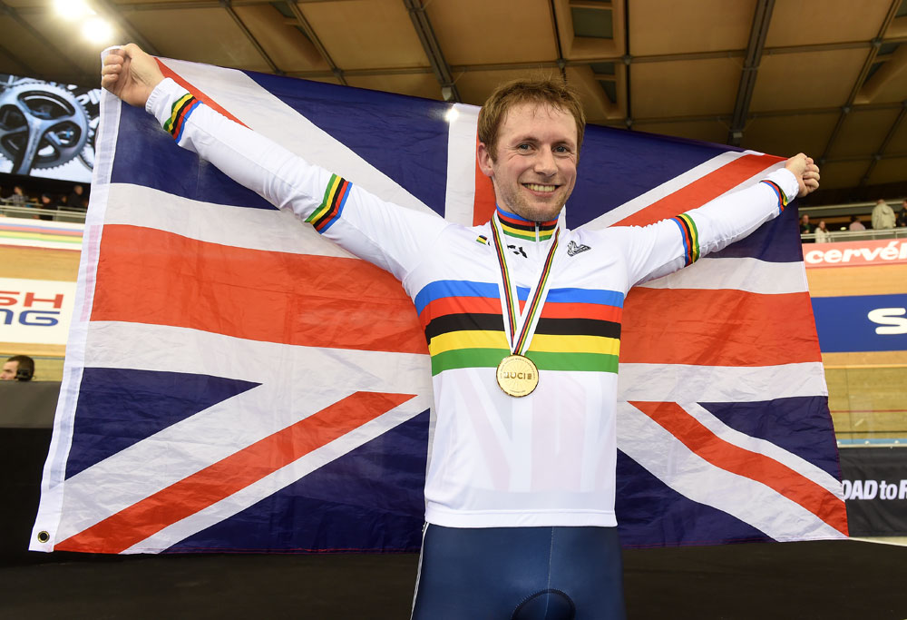 Jason Kenny wins the sprint title, Track World Championships 2016