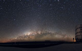The Milky Way appears over the Atacama Desert of Chile.