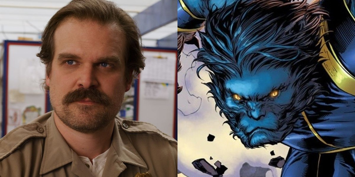 Stranger Things' David Harbour and Beast from X-Men