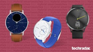 A selection of the best hybrid smartwatches Withings Move ECG, Withings Steel HR and Garmin Vivomove HR