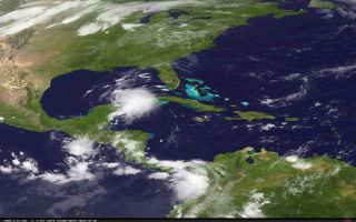 Tropical Storm Karen satellite image