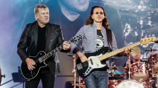 [L-R] Alex Lifeson and Geddy Lee of Rush