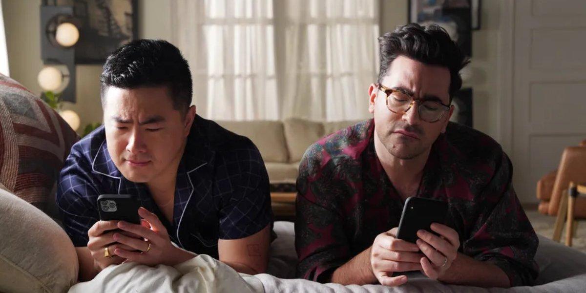Bowen Yang and Dan Levy on Saturday Night Live