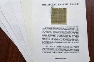 microfilm King James Bible apollo 14