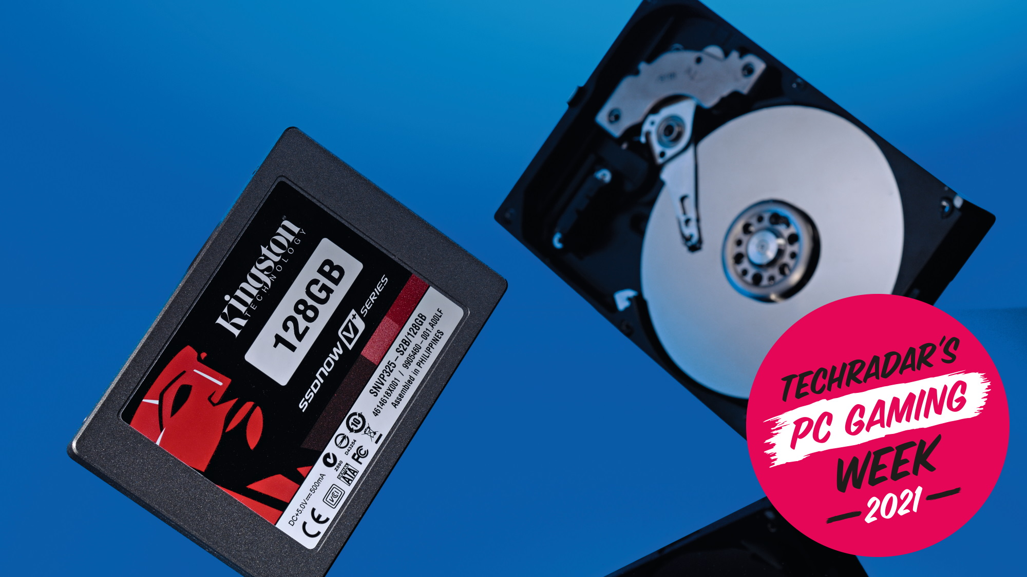 An image of an SSD and hard drive