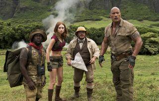 Jumanji: Welcome to the Jungle Kevin Hart Karen Gillan Jack Black Dwayne Johnson.