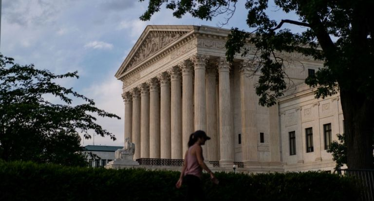 The Supreme Court of the United States, photographed on Monday, May 17, 2021. The Supreme Court announced that it will hear the Mississippi US abortion law 2021 in its next session