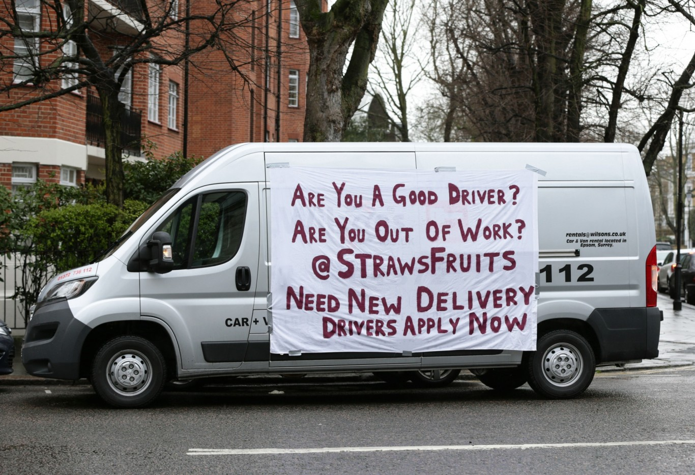 A van outside Jeremy Clarkson's home
