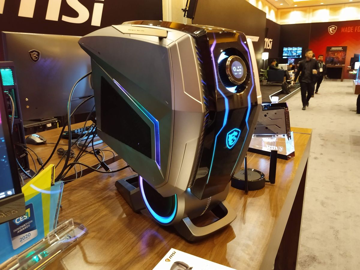 MSI's Aegis Ti5 gaming PC has an OLED command center that puts you in total control