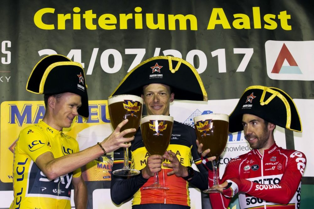 Image result for cyclist beer podium