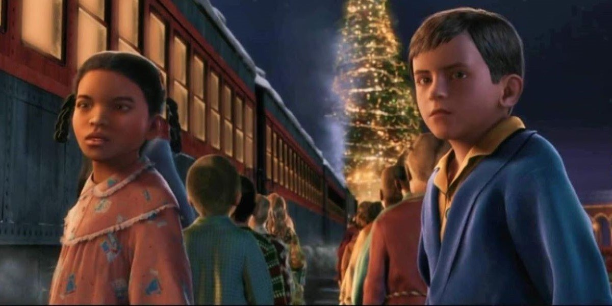 Nona Gaye and Tom Hanks in The Polar Express
