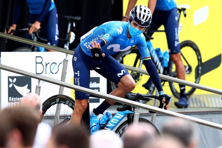 Alejandro Valverde at the 2021 Tour de France