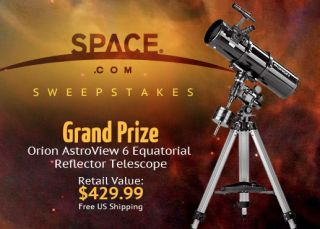 This telescope is just one of dozens of prizes available in the SPACE.com Facebook Sweeptakes ending in Jan. 16, 2012.