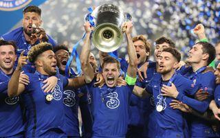 Chelsea captain Cesar Azpilicueta lifts the Champions League trophy | Chelsea v Zenit live stream