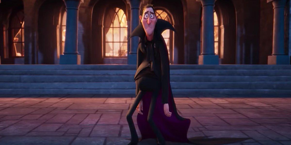 Drac in the new trailer for Hotel Transylvania: Transformania.