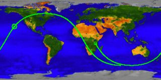 This UARS ground track shows where NASA's dead satellite likely fell.