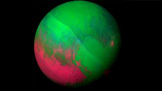 Pluto green and red