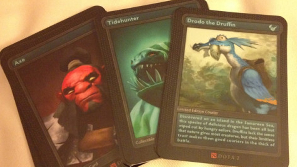 dota 2 trading cards and figures spotted at valve hq pc gamer