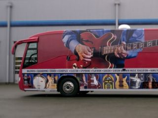 The music industry comes to you via the Gibson Tour Bus
