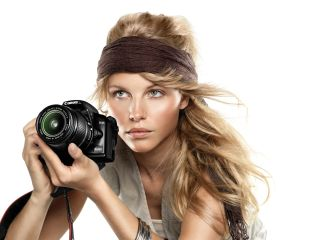 The EOS 1000D: model not included