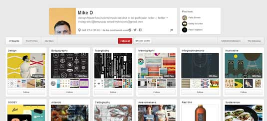 Top 25 graphic designers to follow on Pinterest