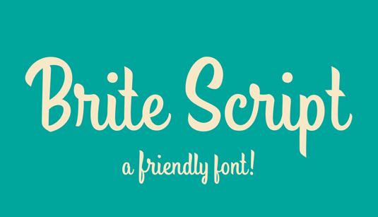 Font of the day: Brite Script