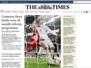 The Times - now behind a paywall