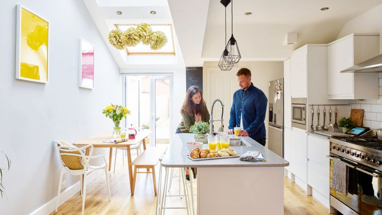Amy and Gareth Andrew transformed a dated terrace into a modern first-time house
