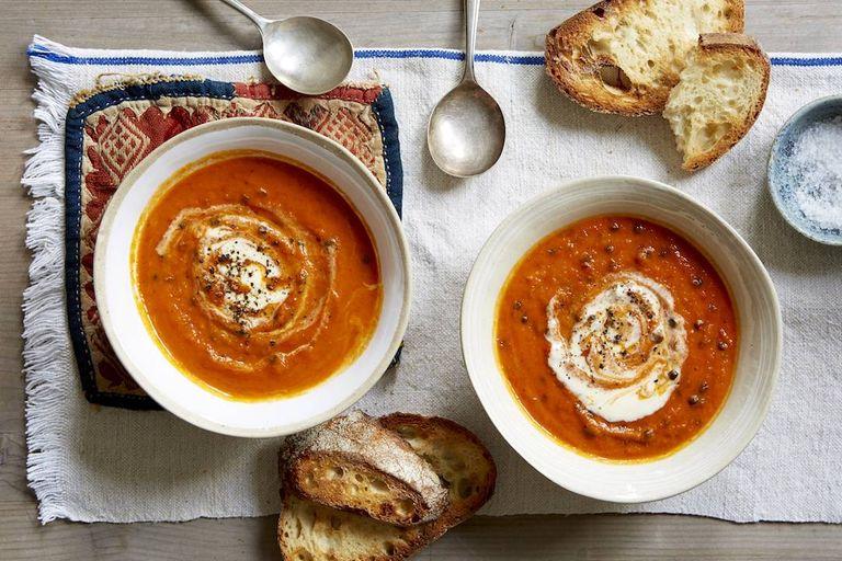 Sweet potato nduja soup
