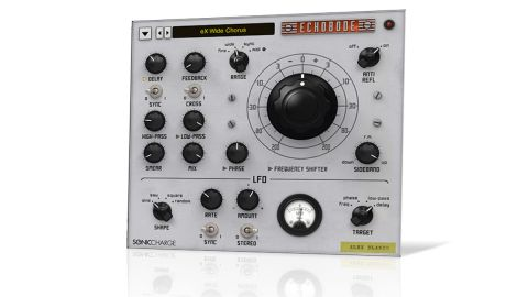 Echobode is, at its heart, a delay with a frequency shifter in the feedback loop