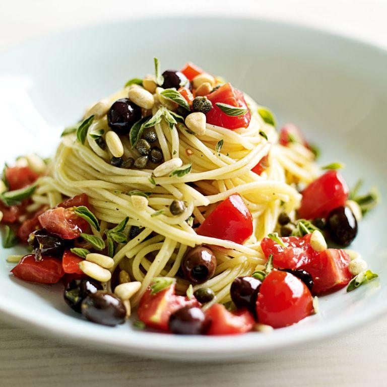 Tomato, Black Olive and Caper Spaghetti recipe-pasta recipes-recipe ideas-new recipes-woman and home
