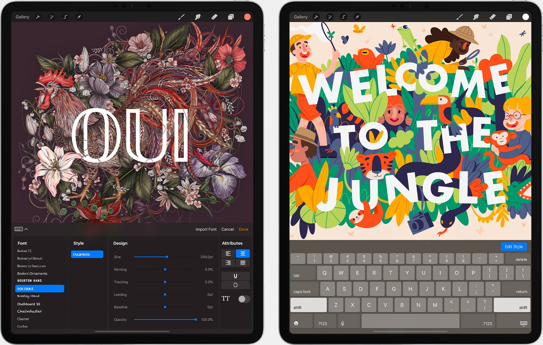 Procreate's text tool is finally here! | Creative Bloq