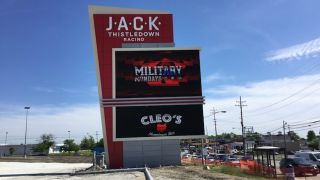 Gable Installs Iconic Freestanding Identity Feature at JACK Thistledown Racino in Ohio