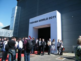 When in Rome,,, Toshiba shows off 3D TV