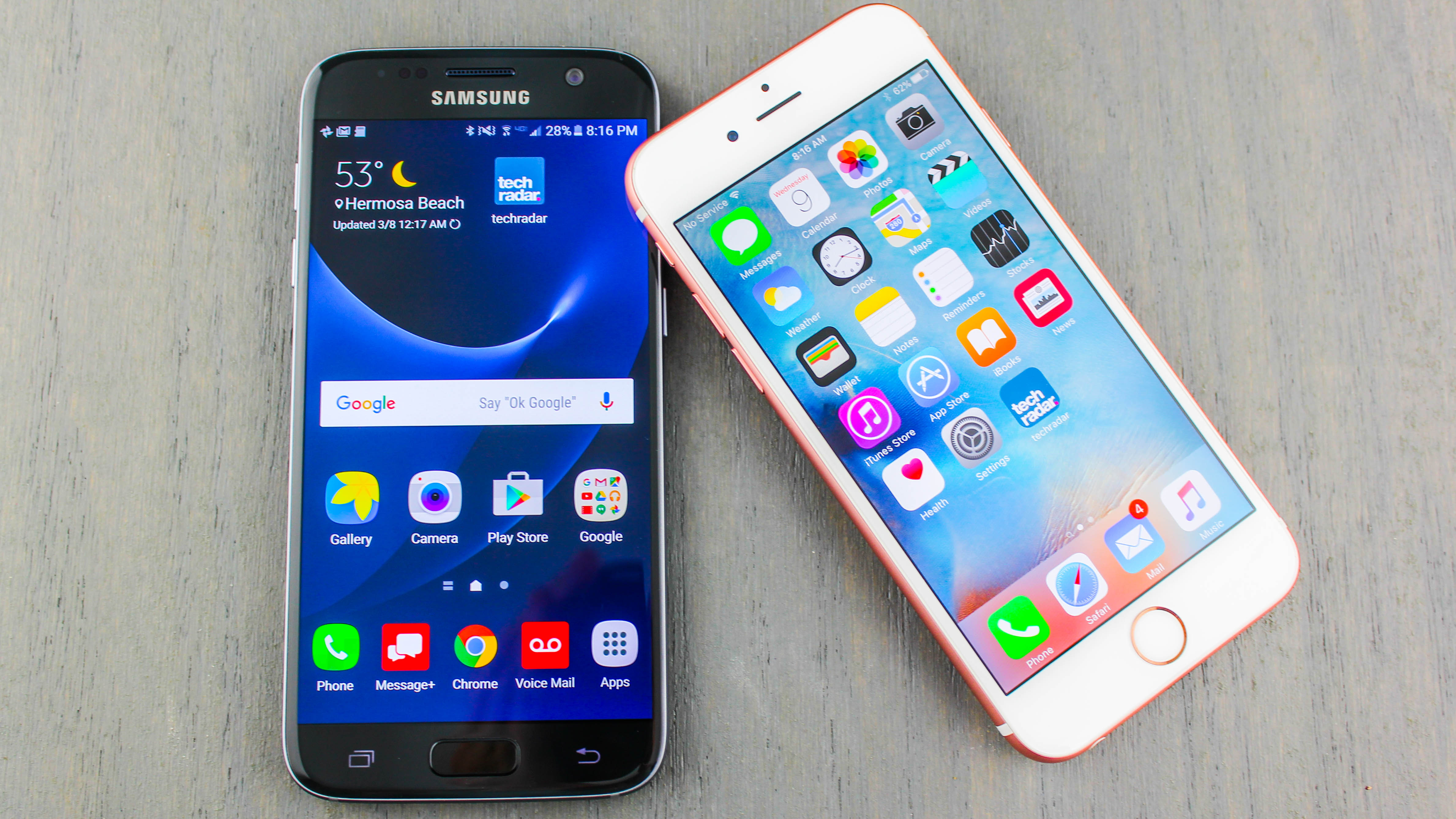 Galaxy s7 vs iphone 8